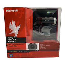 Microsoft LifeCam Cinema 720p HD Webcam Black Model 1393 Windows Live Messenger