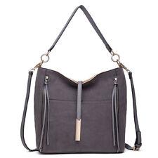 8022f5c549e9 Miss Lulu Fashion Ladies Designer Suede Slouch Hobo Handbag Shoulder Tote
