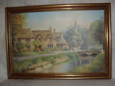 COUNTRY LIFE OIL ON BOARD SIGNED BY WELLS