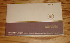Original 1980 Buick Skylark Owners Operators Manual 80