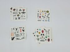 WWE Create a Superstar lot of 9 tattoo sheets Wrestling Action Figure