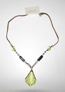 River Island Green Necklace Jewellery Hippie Pendant Boho Chic Costume UKSELLER