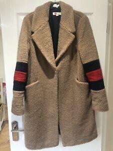BNWOT Boden Hereford Teddy Coat Soft Truffle Size 14