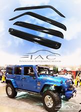 For Jeep Wrangler 07-17 4Door Window Visor Vent Sun Shade Rain Guard Door Visor