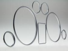 Satin-MATT Tachimetro Tachimetro anelli letronix clip Audi a3 & a4 piena profondità Clips