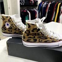 Converse All star Personalizzate con tessuto leopardato borchie solo 36.5 cm 23