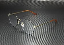 GUCCI GG0577OA 002 Round Oval Black Shiny Gold Demo Lens 57 mm Men's Eyeglasses