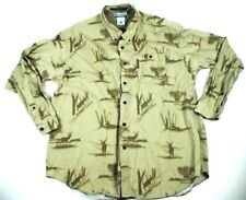 Columbia River Lodge Mens Hunting Deer Buck Size L Button Up Front  Deer