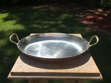 "French Gaillard Copper 12.5"" French Gratin Roasting Pot Pan Bronze Handles"