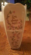 Lenox Love never fails, always protects, always preserves, always hopes vase