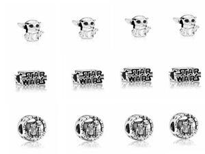 15pc European Silver Charm Bead For Bracelet Necklace Pendant Chain