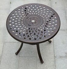 Patio Outdoor Cast Aluminum Garden Round Dining Table Garden Round