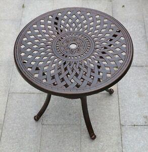 Patio Outdoor Cast Aluminum Garden Round Dining Table Garden Round