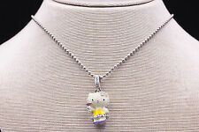Kimora Lee Simmons Hello Kitty Prom Kitty Necklace in 925 Sterling Silver