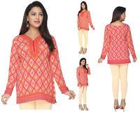 UK STOCK - Women Fashion Indian Short Kurti Kurta Top Shirt Dress 141A