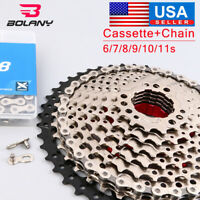 BOLANY KMC 8/9/10/11S MTB Bike Cassette Chain 11-40/42/46/50 Sprocket Derailler