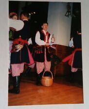 Vintage Photography PHOTO WARSAW GERMANY FOLK DANCER DRINKING AND SINGING BASKET