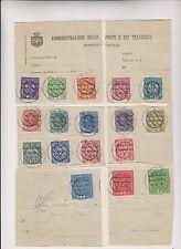 Italy,Austria,1918,Venezi a Giulia locals,nice lot used on cuts #