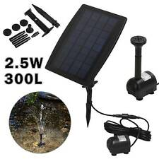Solar Panel Power Water Pump Garden Aquarium Pool Pond Water Feature Fountain UK