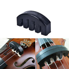 1Pc Violin Practice Mute Heavy Black Rubber Violin Silencer Acoustic ElectricL2S