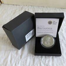 2010 SILVER PROOF £2 BRITANNIA - boxed/coa/outer