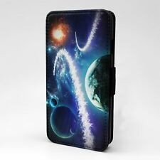 For Apple iPod Touch Flip Case Cover Planets Galaxies Space - T2455
