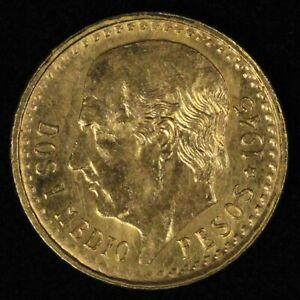 1945 2 1/2 Dos Y Medio Pesos Gold Coin - Free Shipping USA