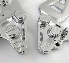 99-07-17 Hayabusa Chrome 3D Hex Ball Cut Front Peg Bracket Mounting Bolts/Covers
