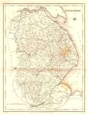 Antique county map of LINCOLNSHIRE. Walker, Creighton & Lewis. Spotting c1840