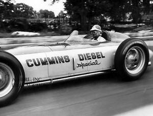 Cummins Special Indy car racer 1950s automobile racing car photograph photo