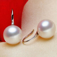 Freshwater Pearl Dangle Earrings Studs Gold/Silver Plated Women Jewelry Fashion