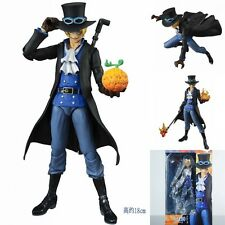 7'' Anime Figma One Piece Variable movable Sabo Action Figure Toy Figurine