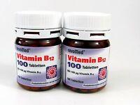 Vitamin B12 100 μg - 2 x 180 Tabletten von revoMed  Basisversorgung