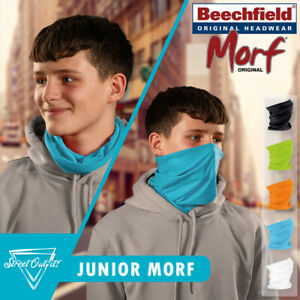 Kids Face Mask Snood Beechfield Junior Morf Washable Scarf Breathable Cover