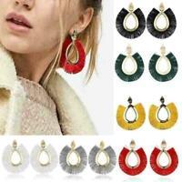 Frauen Quaste Ohrring Handgemachte Boho Baumeln Ohrringe Schmuck Ohrstecker A1Y9