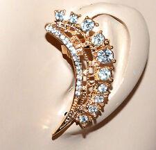 MONO ORECCHINO donna ragazza oro dorato strass cristalli brillantini regalo F223