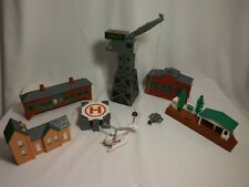 Thomas Tomy Train Buildings - Cranky - Harold Helicopter & more - LOT