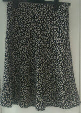 Marks and Spencer black mix lined skirt - UK size 8 knee length - fast free post