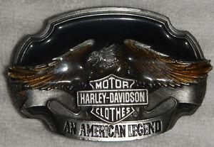 Vtg 1989 Harley Davidson Eagle Belt Buckle Siskyou USA