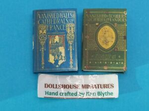 1:12 Scale Book 2 x Vol Vanished Buildings of France 1917,Crafted By Ken Blythe