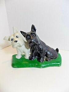 Cast Iron Terriers Dog Door Stopper  Figurine Doorstops
