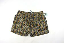 New Vintage 90s Mens 4XL Abstract Fish Print Multi-Color Swimming Swim Trunks