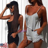 Women Vest Tank Top Blouse T-Shirt Crop Tops + Shorts Pants Clothes Set Outfits