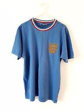 Camiseta Inglaterra. Retro Pequeña Adultos. Umbro. Azul manga corta fútbol superior sólo