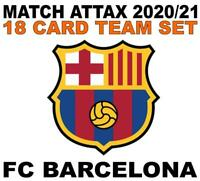 Match Attax Champions League 2020/21 FC BARCELONA 18 card team set