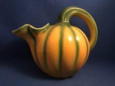 Vintage Longchamp Pottery Gourd Melon Shaped Pitcher #1665 France