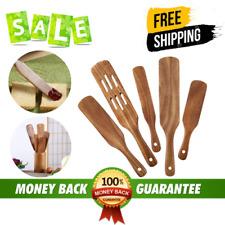 New listing Messon Spurtle Set, 5 Pcs Premium Wood Spurtles Kitchen Tools Wooden Spatula Spo