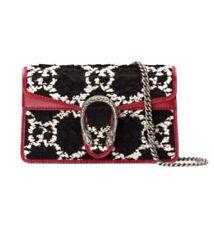 Gucci Dionysus Bag GG Tweed Super Mini. NWT & Box. Black