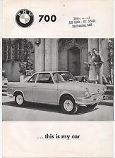 1950s BMW 700 Automobile Dealers Advertiisng Brochure