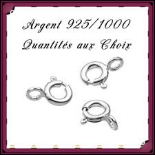 Fermoirs anneau ressort 5mm, en Argent 925/1000 . Réf: AMN5
